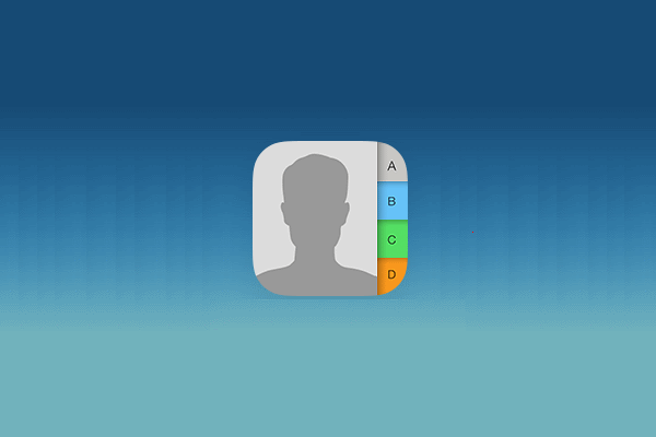 iPhone Contacts icon header