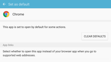 android chrome settings